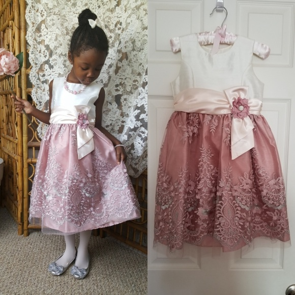 BABY GIRL SHORT SLEEVE SPECIAL OCCASION  DRESS WITH NETT OVERLAY /& TARTAN BOWS